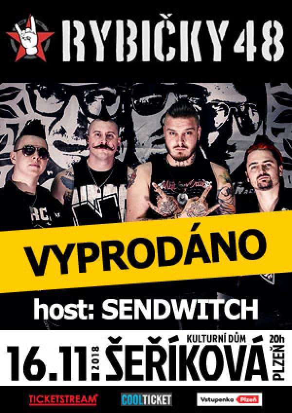 16. 11. 2018 / Rybičky 48; BEST (FUCK) OFF TOUR, host: Sendwitch