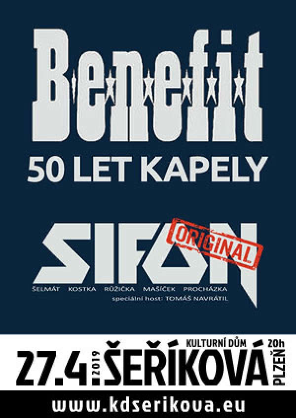 27. 04. 2019 / Benefit – 50 let + Sifon naEx