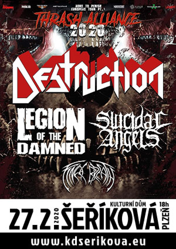 27. 02. 2020 / Destruction, Legion of the Damned, Suicidal Angels, Final Breath