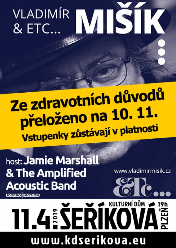 11. 04. 2019 / Vladimír Mišík & ETC, host: Jamie Marshall & The Amplified Acoustic Band