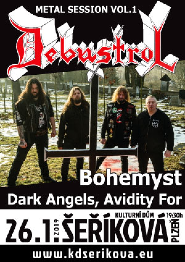 26. 01. 2019 / Metal Session vol. 1 – Debustrol, Bohemyst, Dark Angels, Avidity For
