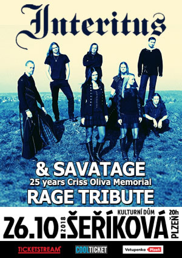 26. 10. 2018 / Interitus, Savatage (SK) – 25 years Criss Oliva Memorial (Trans Carpathian Orchestra), Rage Tribute (XIII Ghosts, SK)
